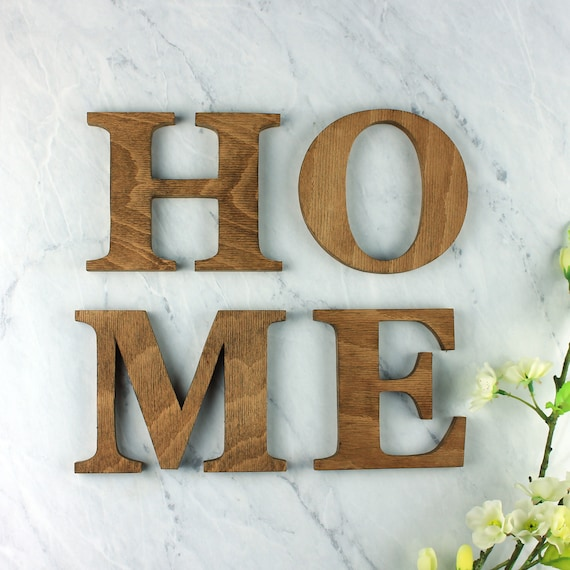 wooden letters decorative letters home sign wall letters etsy
