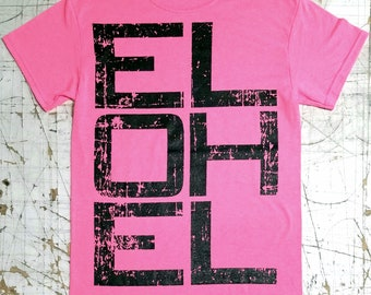 L.O.L. on Safety Pink tee shirt