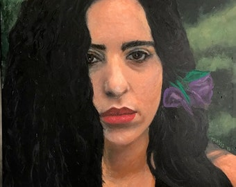 Original painting: Laura Nyro, 2018