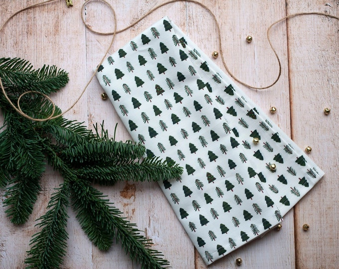 Little Christmas Forest Dish Towel