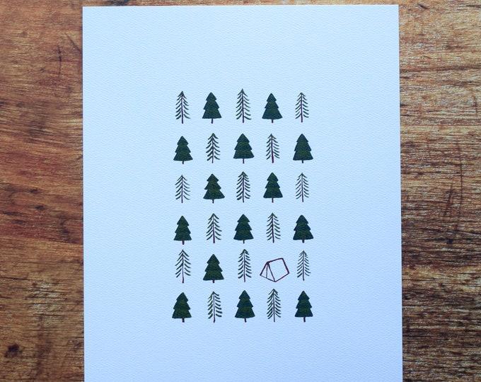 Happy Camper 8x10 Print