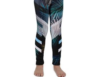 7954112223a65 Kids Palm Rays Leggings / Kids Leggings / Mommy and Me Leggings / Kids Yoga  Leggings / Kids Yoga Pants / Kids Sports Leggings