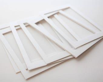 Acid Free White mat | Beveled paper 4x6 inch photo art mats