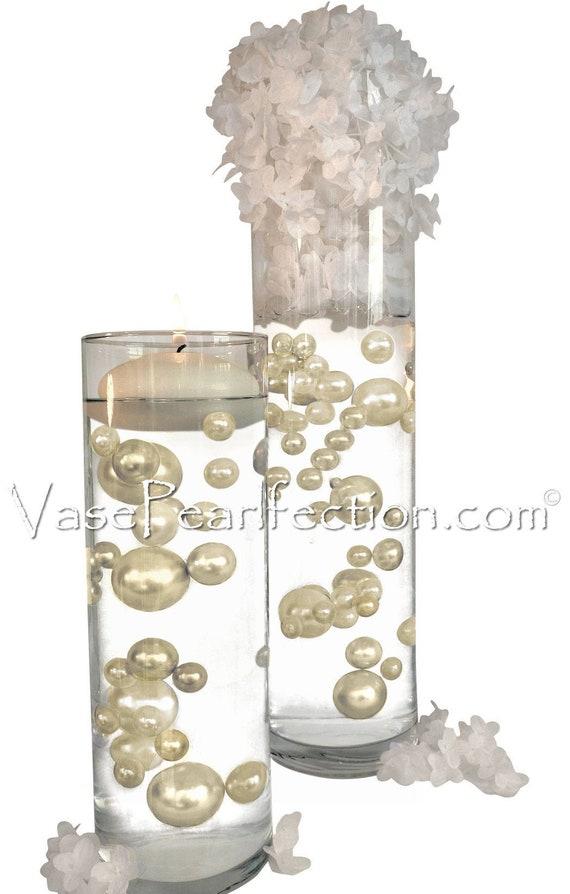 Orange Pearls Jumbo//Assorted Sizes for Vase Decorations