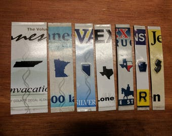 License Plate letters - State emblem spacers