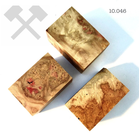 Botlle Stopper Blanks Maple Burl DIY. Wood