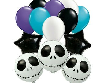 13pc nightmare before christmas balloons ensemble bouquet nightmare before christmas party supplies