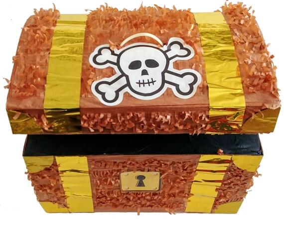 Pirates Skulls Treasure Chest Pinata 9 10 12 Pirate Birthday