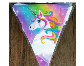 12ft. Rainbow Unicorn Birthday Banner ~ Party Supplies Decorations