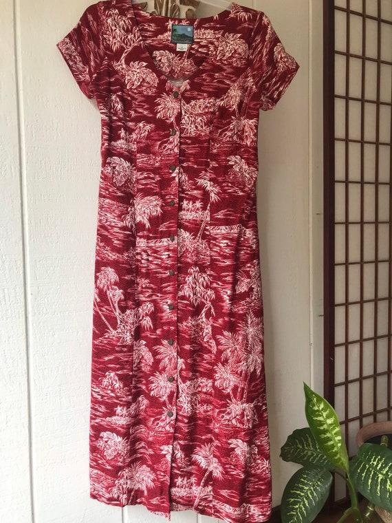 Hawaiian Moon button up dress