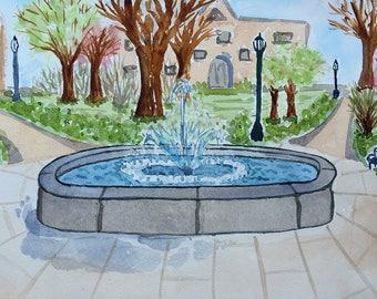 Villanova Fountain Landscape