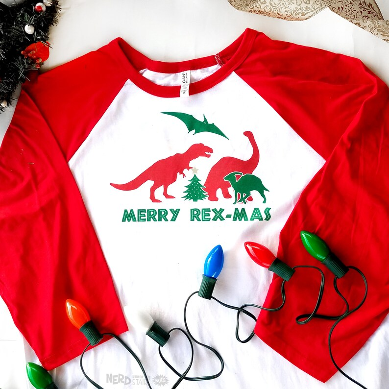 96a09e84a Dinosaur Christmas T-shirt Ugly Christmas Shirt Funny | Etsy