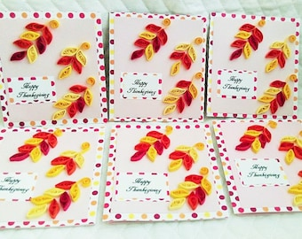 Happy Thanksgiving Card Set Of 6