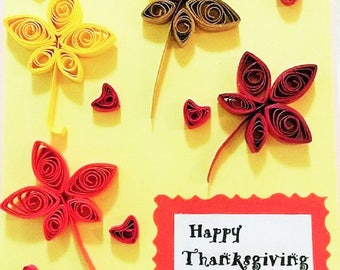Set of 5 Happy Thanksgiving Quilling Card