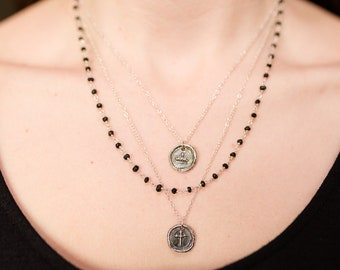 Layered Wax Seal Necklace