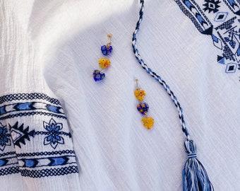 Bohemian Flower Dangle Earrings