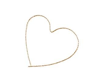 LOVE hoops - 14k Gold Fill Heart Hoops - Heart Earrings - Hoop Earrings
