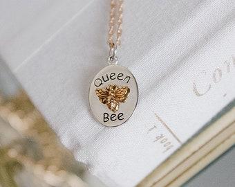 Queen Bee .925 Sterling Silver Necklace - Honey Bee .925 Sterling Silver Necklace