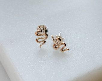 Serpent Stud Earrings