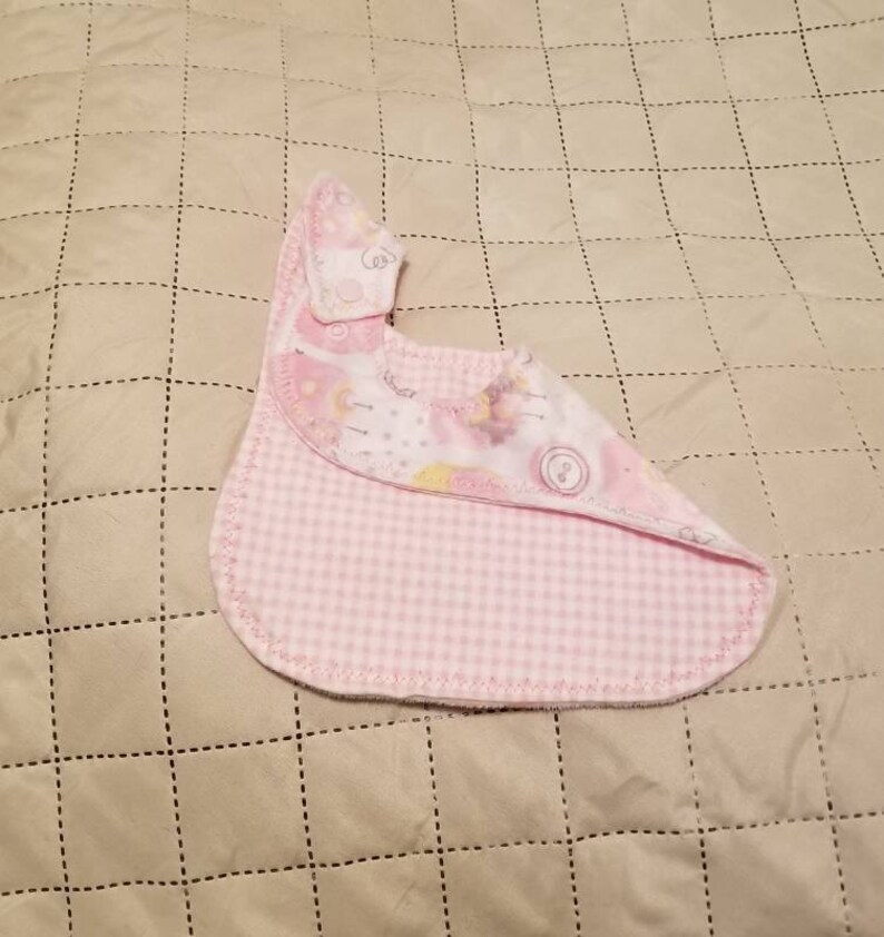 baby girl birds pink Bird bib gray Baby bib Curvy Bib girl checkers bib Baby shower gift Newborn gift yellow