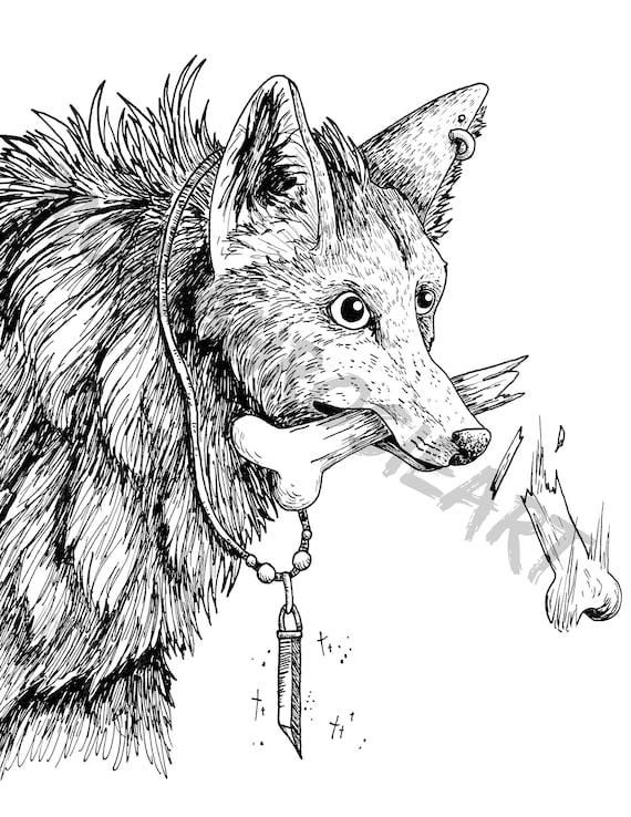 Wolf Malvorlagen Genial Fur Tierfreunde Digitaler Download Etsy
