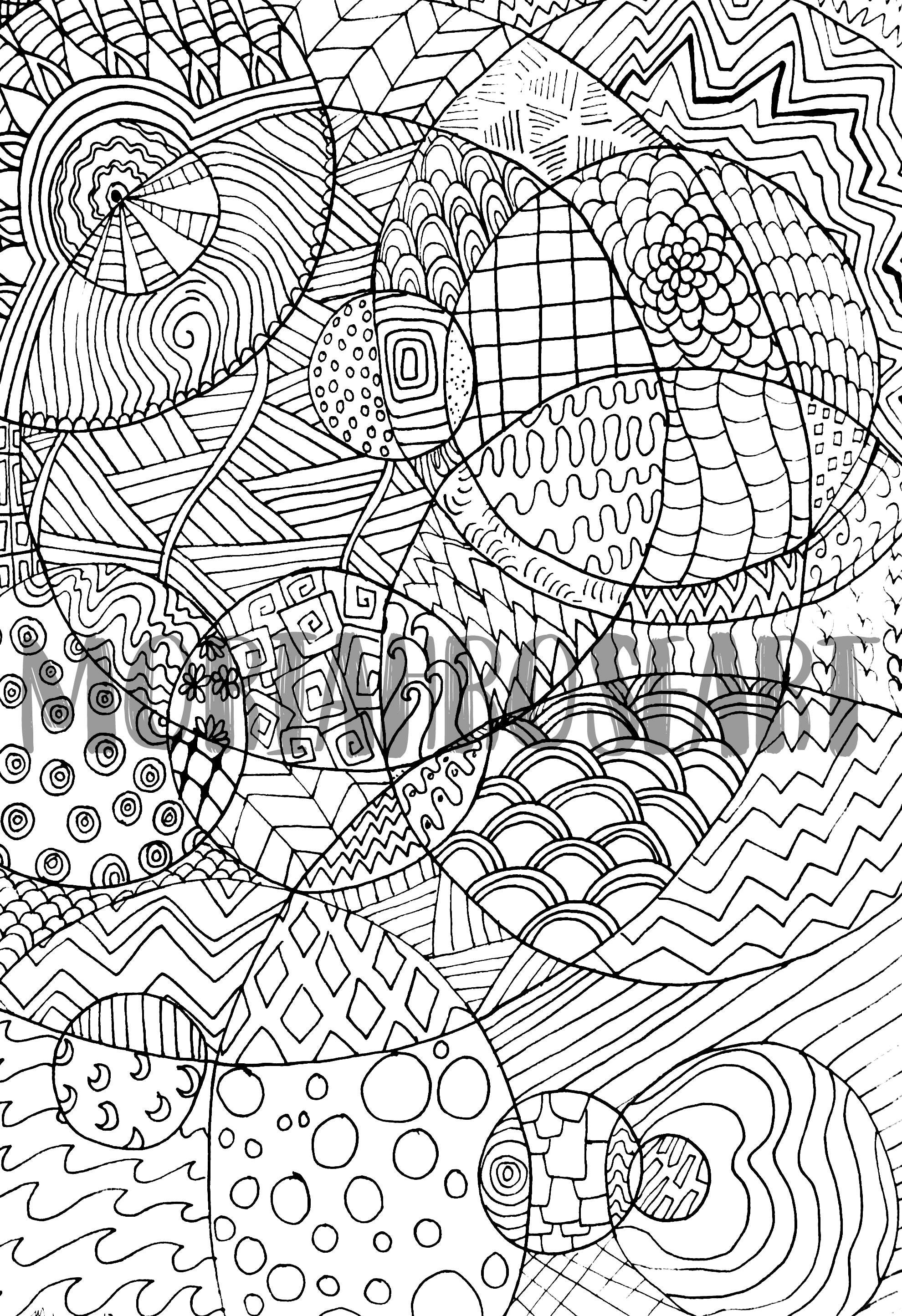 Zentangle Malvorlagen Digitaler Download Druckbare Für | Etsy