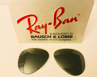 92e5a409d6 New Old Stock Vintage Aviator Ray ban Lenses Green G15 NOS Bausch  Lomb Usa  58mm NOS