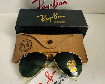 e2b80b333e Vintage NEW 58mm Ray Ban Green Bausch   Lomb Usa BL old Stock   Case  Original NOS