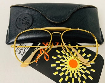 2daeb1a68e Vintage 58mm Aviator Outdoorsman Ray Ban Frame 50th Anniversary The General  Usa Bausch   Lomb BL w  case