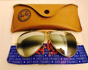 db542772a8 spain vintage ray ban ambermatic aviator sunglasses emoji 884a9 0d8cc