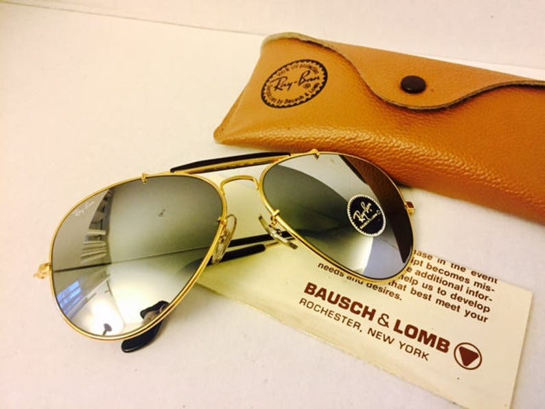 60150f0ad7ad Vintage ray ban mirrored gray bausch lomb usa w case