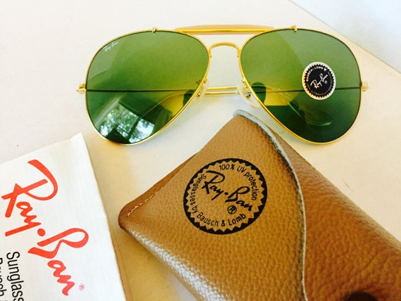 c35b91ce6df vinage Ray Ban green Rb3 bausch lomb usa bl 62mm w case new