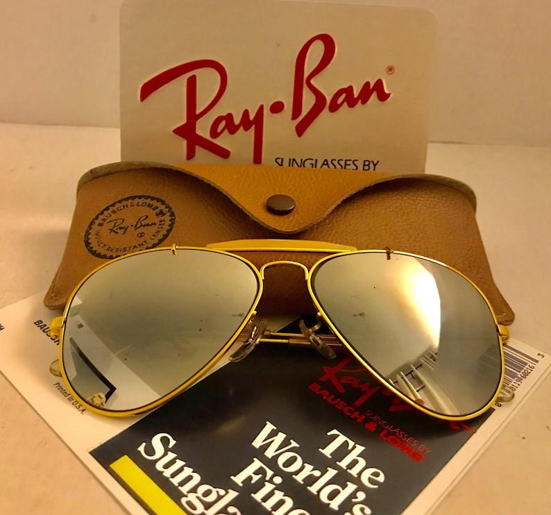 472d560b2364 Vintage Aviator Outdoorsman Ray Ban Mirrored BL Bausch
