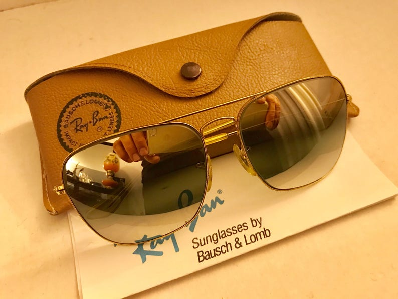 ef6f22bb626 vintage caravan Ray Ban double Gradient mirrored DGM Gray BL bausch lomb  usa 58mm w  case