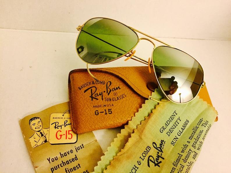 3e1045a2bc6 Vintage 12k GF Aviator Ray Ban sunglasses double Gradient