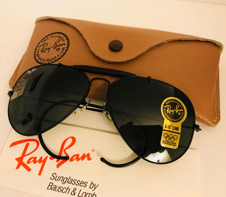 a60cce3f61ec New vintage Aviator Ray Ban Black g15 62mm bausch lomb usa