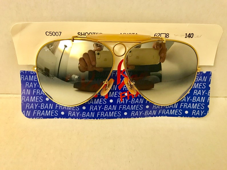 6a47a43d08e9 New vintage Aviator Shooter Ray Ban Double Gradient Mirrored