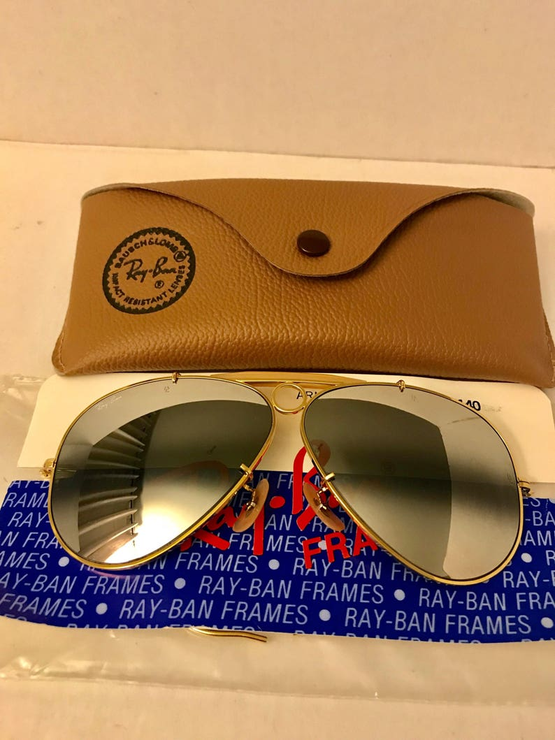 cad96d2393 New vintage Aviator Shooter Ray Ban Double Gradient Mirrored