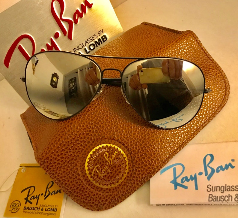 5dcb857932bb Vintage New Aviator Ray Ban Double Gradient Mirrored NOS