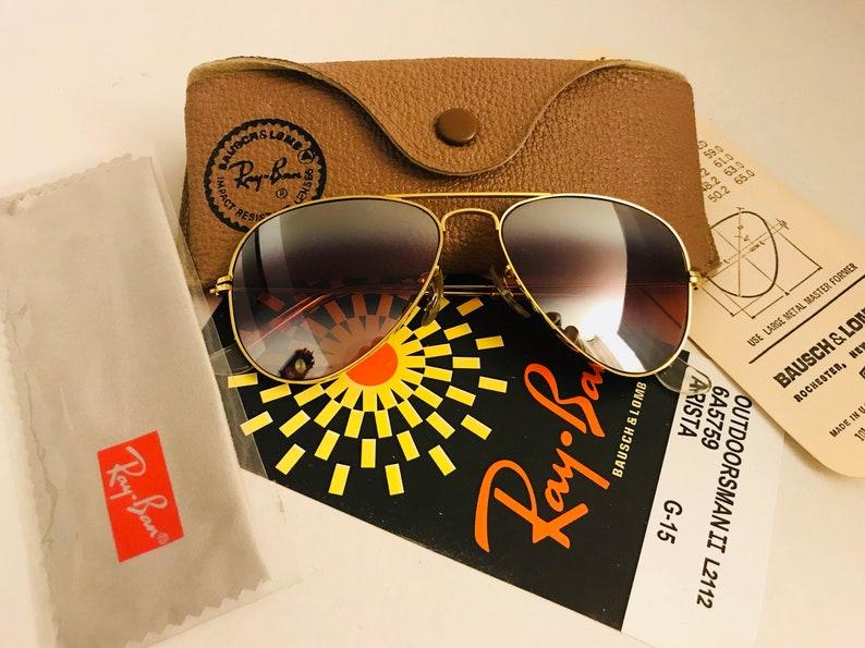 efde2ae31cb Vintage NEW Aviator Ray Ban sunglasses double Gradient