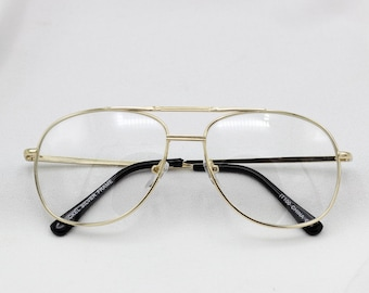 b88fcb0ab47 Clear Aviator Nerd Glasses