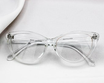 1e34d57ac4 Vintage Clear 90s Cateye Glasses