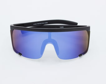 1a18de1e65115f Retro Shield Visor Sunglasses