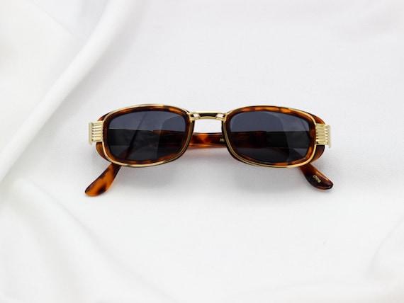 2423b30cca Square Hip Hop Sunglasses Gold Tortoise Retro Sunglasses