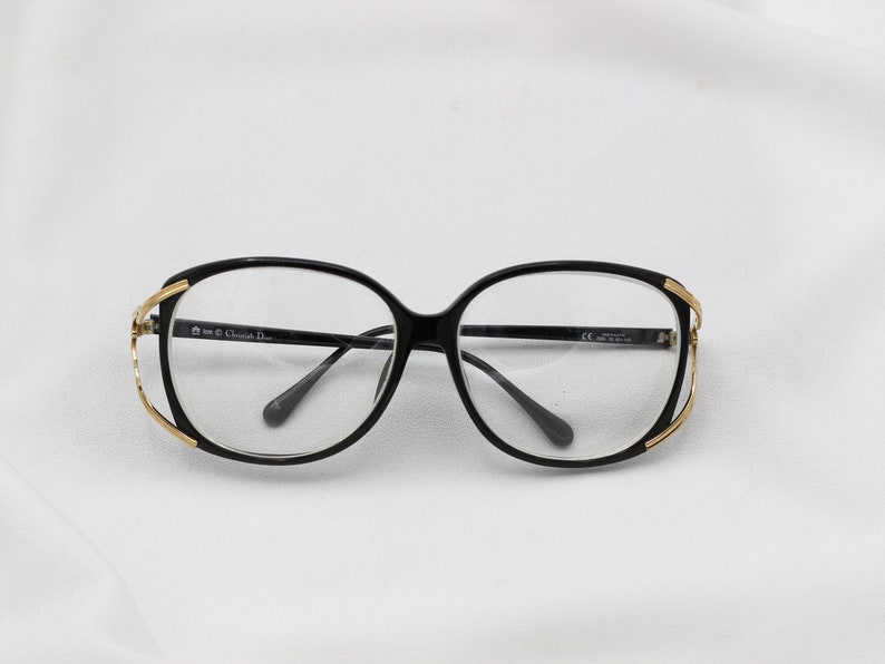 d18eb5fc98ce Vintage Christian Dior Optical Frame Glasses black gold