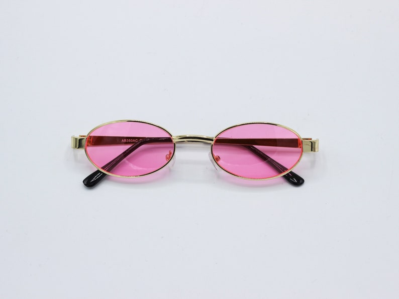 Red 90s Y2K Style rimless vintage Sunglasses