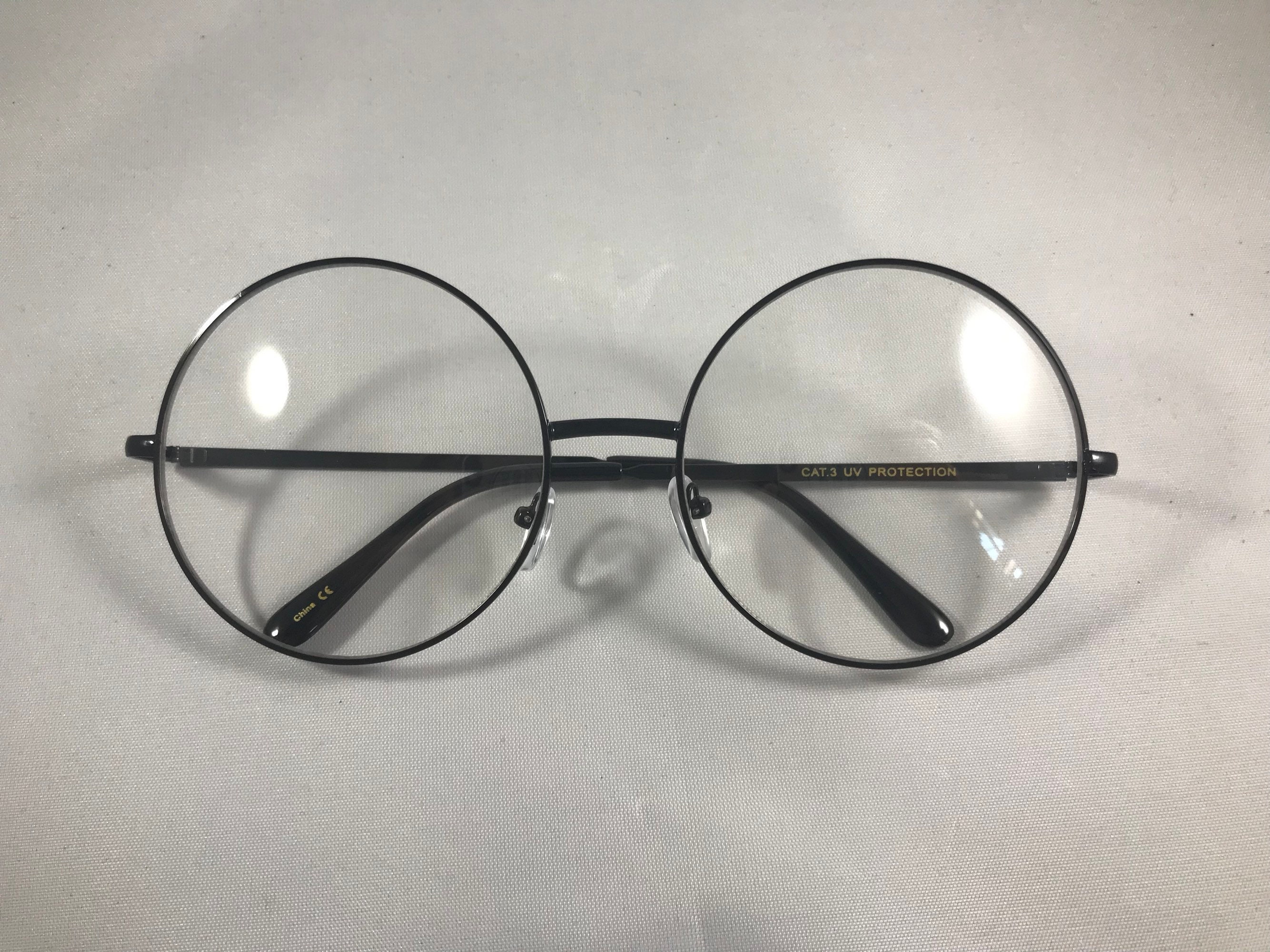 Fake Round Glasses | Oversized Glasses | Womens Frames | Round Clear ...