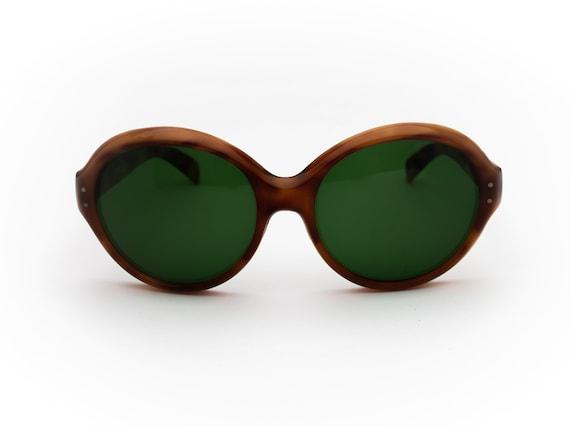 Vintage Sunglasses Italian Nilsol   Round   1970's