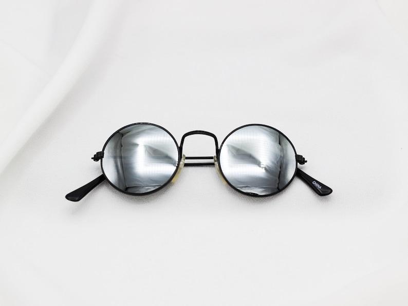 060a3f62a0 Vintage Round Lennon Sunglasses Unisex Glasses Reflective