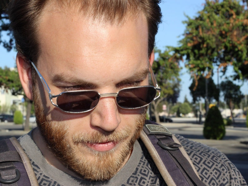 dea030c3e70 Square Metal Frame 90s Grunge Sunglasses vintage rectangle